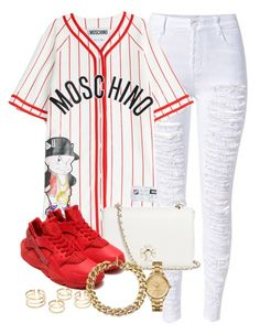 """""""Stop making a big deal out of the little things, Cause I got big deals and I got little things"""" by princessopnellahnhnhnnnnnhnhn ❤ liked on Polyvore featuring Moschino, Tory Burch, NIKE, Lacoste and Michael Kors"""