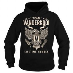 Cool Team VANDERKOOI Lifetime Member - Last Name, Surname T-Shirt T-Shirts
