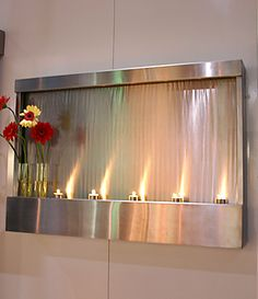 indoor waterfalls and home interior water fountains - Interior Wall Water Fountains