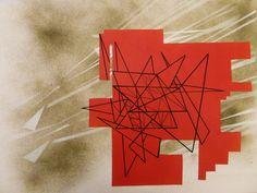 Collage, peinture acrylique, posca.