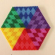 Hexagonal perler bead pattern by theperlerbeadmakers
