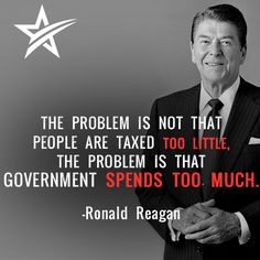 The problem is not that people are taxed too little.  The problem is that government spends too much.
