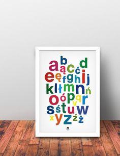 Alfabet polski - Plakat dekoracja literki 48x68cm