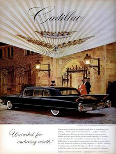 1960 Vintage Advert - Cadillac Motor Car  A glamorous pimp mobile, Charmaine Zoe