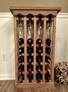 How To Build This Simple Wine Rack - From Pallets!