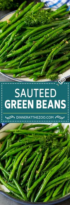 These sauteed green beans are cooked in butter, garlic and an assortment of fresh and dried herbs. Sauteed Green Beans, Drying Herbs, Garlic, Easy Meals, Yummy Food, Beef, Fresh, Dinner, Vegetables