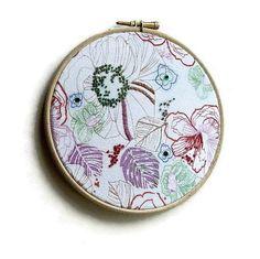Embroidery Hoop Art  Flowers Sequins by Anneatcountrybazaar