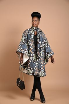 ***Luxury has arrived with this comfortable Unisex African print Poncho, fully lined with cotton Wear it over a coat or a sweater Its edges are Trimmed with Pleather. One Size Fits All Made from cotton wax print Hand made in Canada DRY CLEAN ONLY African Print Clothing, African Print Dresses, African Fashion Dresses, African Dress, African Print Skirt, Nigerian Fashion, African Inspired Fashion, African Print Fashion, Africa Fashion