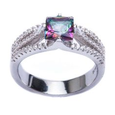 .925 Sterling Silver 2.50ct Square Rainbow Colored CZ & Cz Ring Size 8	by Oxford Diamond Co - See more at: http://blackdiamondgemstone.com/colored-diamonds/jewelry/rings/statement/925-sterling-silver-250ct-square-rainbow-colored-cz-cz-ring-size-8-com/#sthash.mcNSAk2T.dpuf