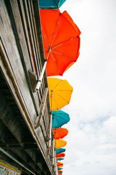 Deck umbrella holder for a small deck