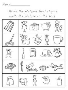 Printables Pre-k Rhyming Worksheets free rhymes children and the words on pinterest rhyming use these black line worksheets for student practice assessment this download includes 3