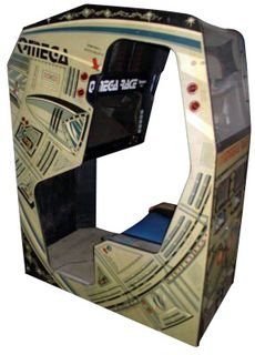 """Omega Race in early """"Enviro"""" cabinet. What a rarity. This, Star Castle, Tempest and Battlezone were the best four """"Vectrex"""" graphic arcade games. Mini Arcade, Retro Arcade, Video Game Heaven, History Of Video Games, Retro Games, Arcade Machine, School Games, Mini Games, Table Games"""