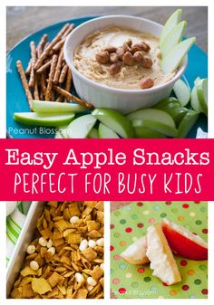 Easy apple snack ideas for kids. Perfectly portable snack ideas for busy kids on the go or for a protein-rich snack after school before practice. Healthy Protein Snacks, Healthy Shakes, Healthy Breakfasts, High Protein, Eating Healthy, Clean Eating, Apple Recipes Easy, Keto Recipes, Kids Meals