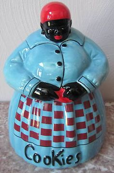 Mammy Aunt Jemima Ceramic Cookie Jar Signed McCoy Black Americana | Antique Cookie Jars, Ceramic Cookie Jar, Mccoy Pottery, Vintage Pottery, Love Vintage, Vintage Black, Ceramic Decor, Ceramic Art, Silver Teapot