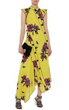 Asymmetrical Floral Dress by Proenza Schouler | Moda Operandi