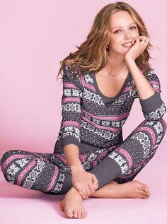 The Fireside Long Jane Pajama Victoria Secret Satin Pyjama Set, Pajama Set, Womens Fashion Online, Latest Fashion For Women, Cozy Pajamas, Pyjamas, Vs Pajamas, Onesie Pajamas, Pijamas Women