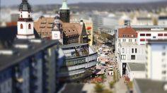 Tiltshift Timelapse Video of Chemnitz, Germany.