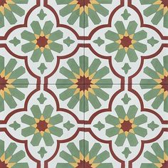 Since it's almost Summer, it seems like a great time for our Charlotte Pattern. #cementtileshop #cementtile #cementtiles #concretetile #cubantile #hydraulictile #mexicantile #encaustictile #encausticcementtile #handmadetile #flowertile #patternedtile