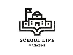 "This logo uses a symbol. The symbol is one of a school/ It relates to the title ""SCHOOL LIFE"". I like that relation. Its too simple."