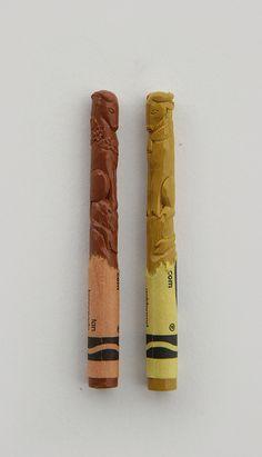 Diem Chau Crayon Sculptures   Abduzeedo   Graphic Design Inspiration and Photoshop Tutorials