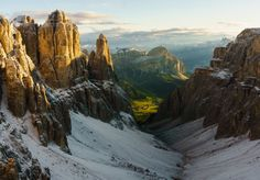 View from Rifugio Boè in the Italian Dolomites [OC][30002086] #reddit