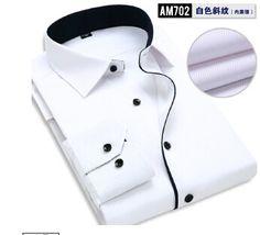Summer Style Men Shirt Fashion Brand Of High-Quality Stitching Dress Casual Long Sleeve Shirts