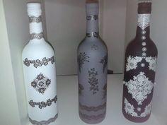 flessen bewerkt met gesso - Pesquisa Google