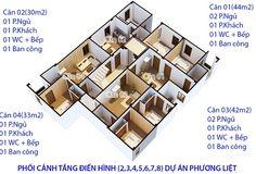 mặt sàn chung cư mini phương liệt tầng 2 đến tầng 8