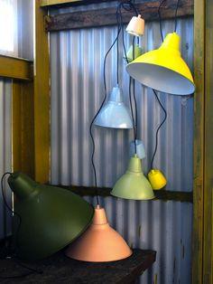 Ikea's Foto Lamps + Spray Paint (from Livet Hemma & Remodelista)