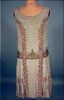 1926 beaded flapper dress - exquisite beadwork!  AntiqueDress.com - Museum items for Sale