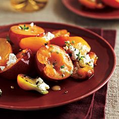 As gorgeous as it is delicious, this salad will become a summer staple. Serve it with grilled chicken, pork, steaks, or seafood. Look for the Mirabelle or other golden-fleshed plums.