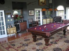 How about a Brunswick Ashbee pool table in your pool room table
