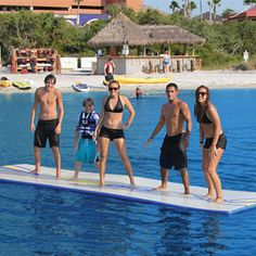 Inflatable Walk On Water Mat..that would be great for tanning too......