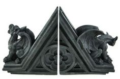 Traditional Gargoyle Bookends