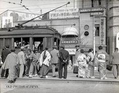 市街電車の乗客 1934年の東京
