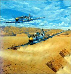 Messerschmitt Bf-109E-7 trop. 'Blanco 8' de la JG.27 en el norte del Africa. Larry Selman. Más en www.elgrancapitan.org/foro