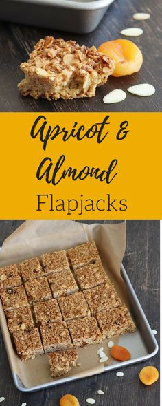 Crisp and chewy flapjacks packed with tasty almonds and apricots. My Apricot & Almond Flapjacks make the perfect snack at anytime of day.