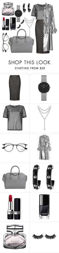 """""""Silver surfer"""" by tag-noheuer ❤ liked on Polyvore featuring Dorothy Perkins, Daniel Wellington, River Island, David Yurman, Ray-Ban, 3.1 Phillip Lim, Givenchy, Alexis Bittar, Christian Dior and Chanel"""