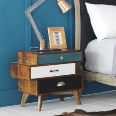 Staggered bedside table