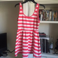 Pink striped dress! From F21. Worn twice. Excellent condition! Forever 21 Dresses Mini