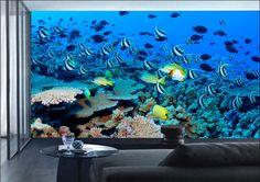 Fototapete RIFF - innovative Wanddekoration mit dekorativem Fotomotiv. Ihr Online-Shop für ausgefallene Fototapeten.