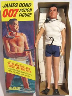 Sean Connery as James Bond in Thunderball Action Figure by Gilbert, 1965