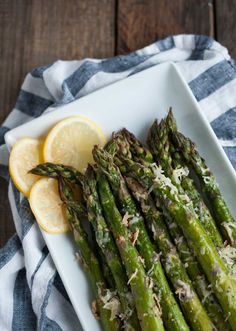 It will take longer for the oven to heat up than to prep thistasty lemon parmesan asparagus! Simple ingredients come togetherin thisclassic versatile side dish. -Feasting Not Fasting