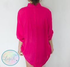 Neon Pink Shirt / Hot pink Tunic by LadyTA on Etsy, $35.00