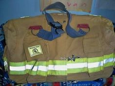 Recycled Firefighter Turnout Bunker Gear Bag | eBay