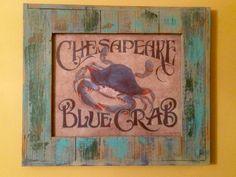 """Salt Wash paint  """"Chesapeake Crab"""" April 2016 Sold"""