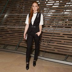 Game of Thrones' Sophie Turner attends the Louis Vuitton Autumn-Winter 2016 Women's Fashion Show by Nicolas Ghesquière.