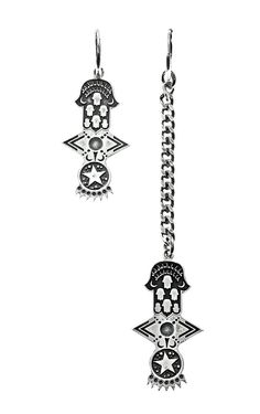 STELLA Earrings - Antique Silver | Alona