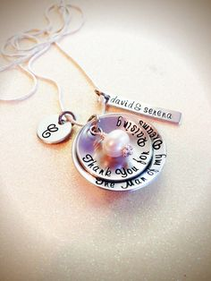 """""""Thank You For Raising The Man Of My Dreams"""" necklace for mother in law - so cute!"""