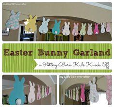 easter bunny garland - pbk knock off